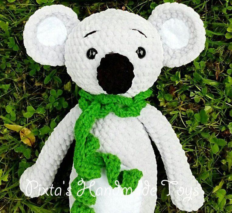 Вязаная игрушка коала крючком