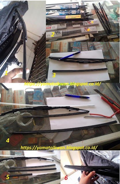 proses kerja kanibal karet wiper
