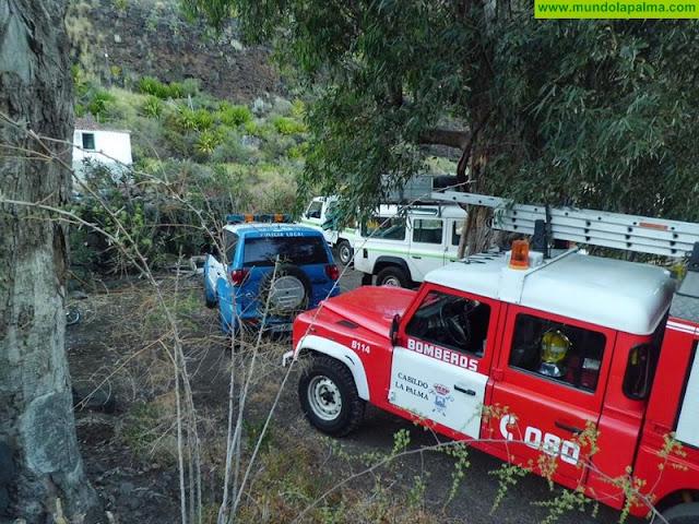 Sofocado, el viernes, un conato de incendio en Santa Cruz de La Palma
