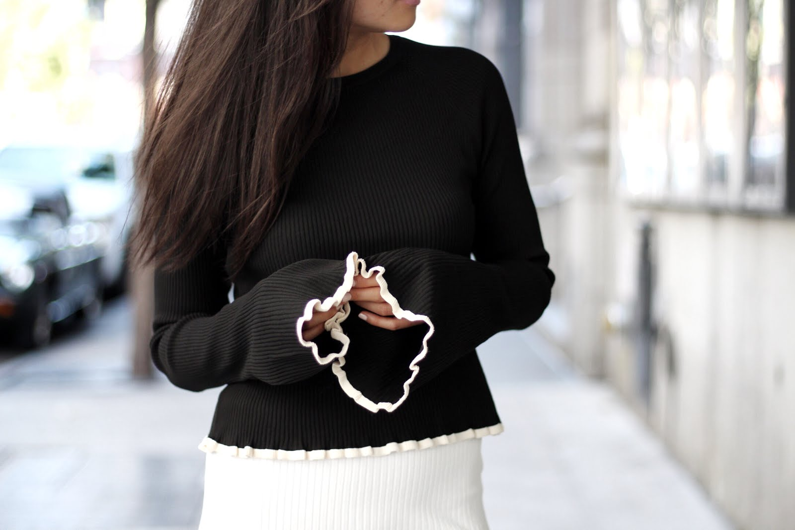 Zara bell sleeve sweater knit fall trends