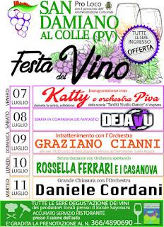 Festa del Vino 7-8-9-10-11 luglio San Damiano al Colle (PV)