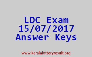 Lower Division Clerk [LDC] Exam 15-07-2017 Answer Keys