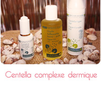 Complexe dermique, Centella ligne gel et l'huile silhouette