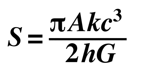 Image result for stephen hawking equation