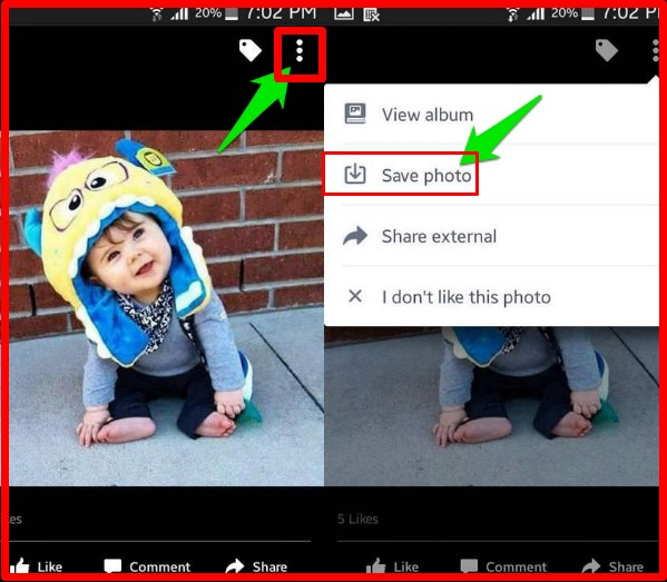 how to save photos from facebook