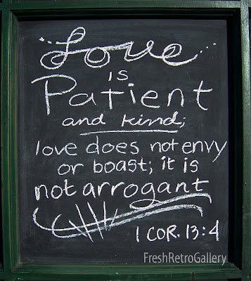 love bible verse quote on chalkboard