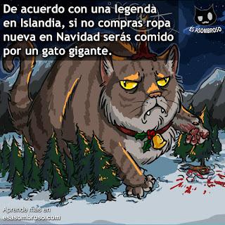 El Gato Yule: el monstruo que te comerá si no compras ropa nueva en Navidad