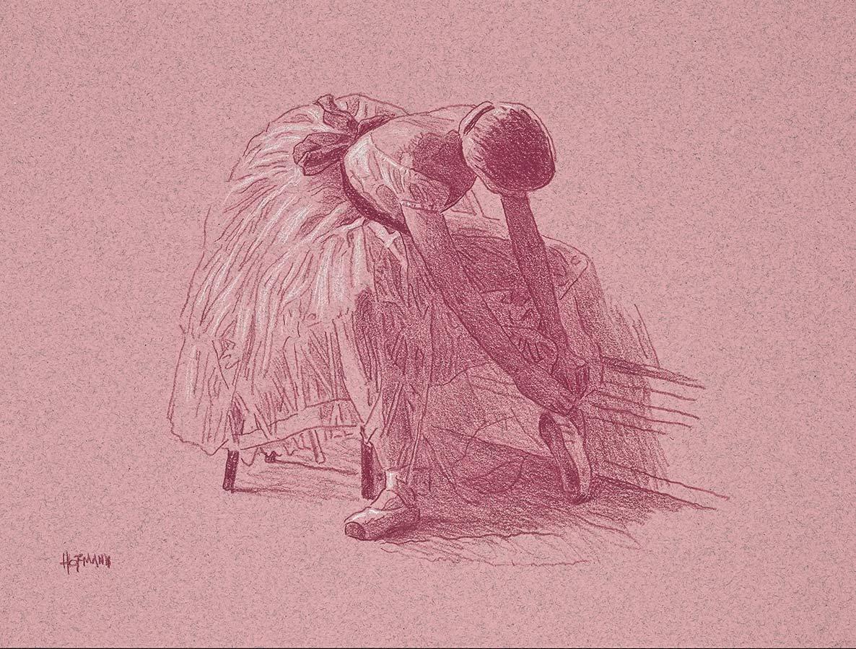 Douglas Hofmann Seated ballerina