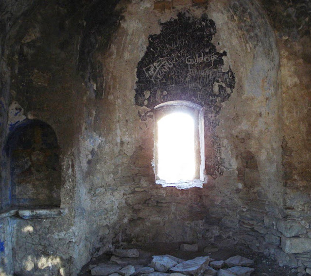 800 year old Greek church in SW Turkey falling into disrepair