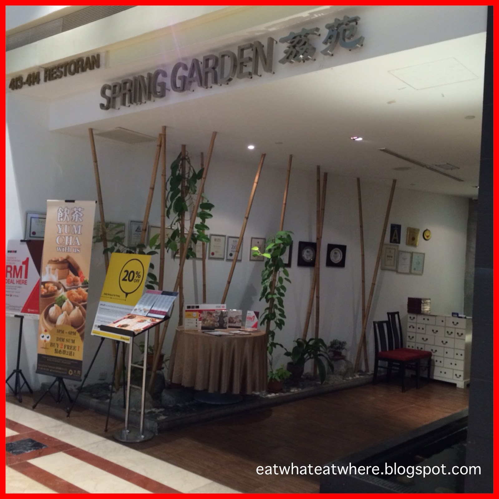 b5f33c0d7c96 Spring Garden   Suria KLCC. The cuisine of choice is almost always Chinese  when we want to accommodate a table of ten for a family dinner and it was  no ...