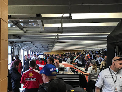 Teams staying dry in the Atlanta Motor Speedway #NASCAR Garages (@NASCARonReddit)
