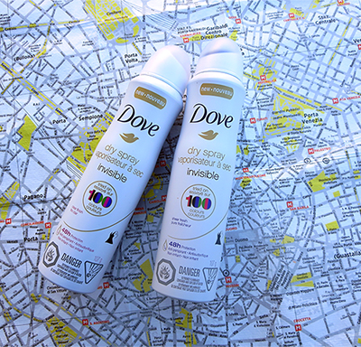 Dove Dry Spray Deodorant Clear Finish and Sheer Finish