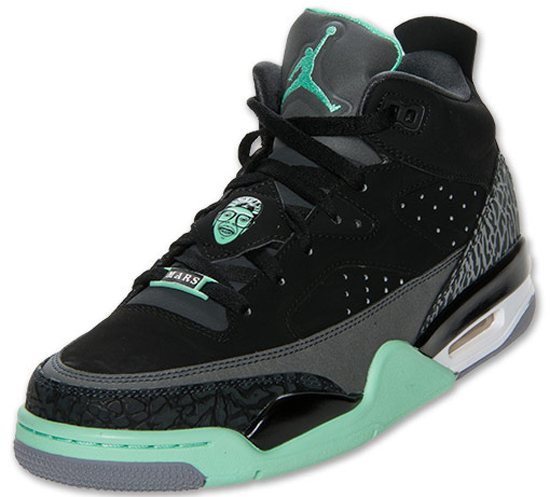 uk availability 56753 e402d Jordan Son Of Mars Low Black Green Glow-Anthracite-Cement Grey Now Available