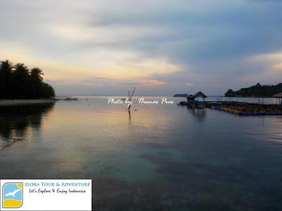 Bule Cakep hunting sunrise di Tanjung Putus