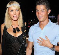 Foto Cristiano Ronaldo dengan Paris Hilton