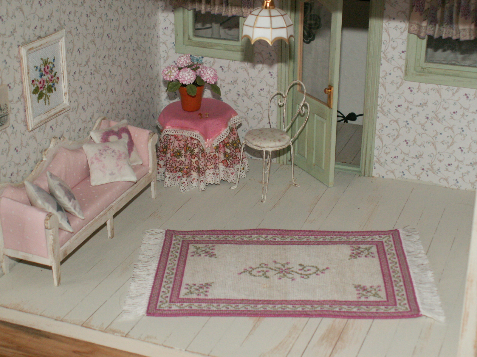 rapunzel minis der shabby teppich ist fertig. Black Bedroom Furniture Sets. Home Design Ideas