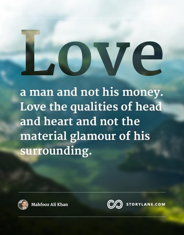 love is not money