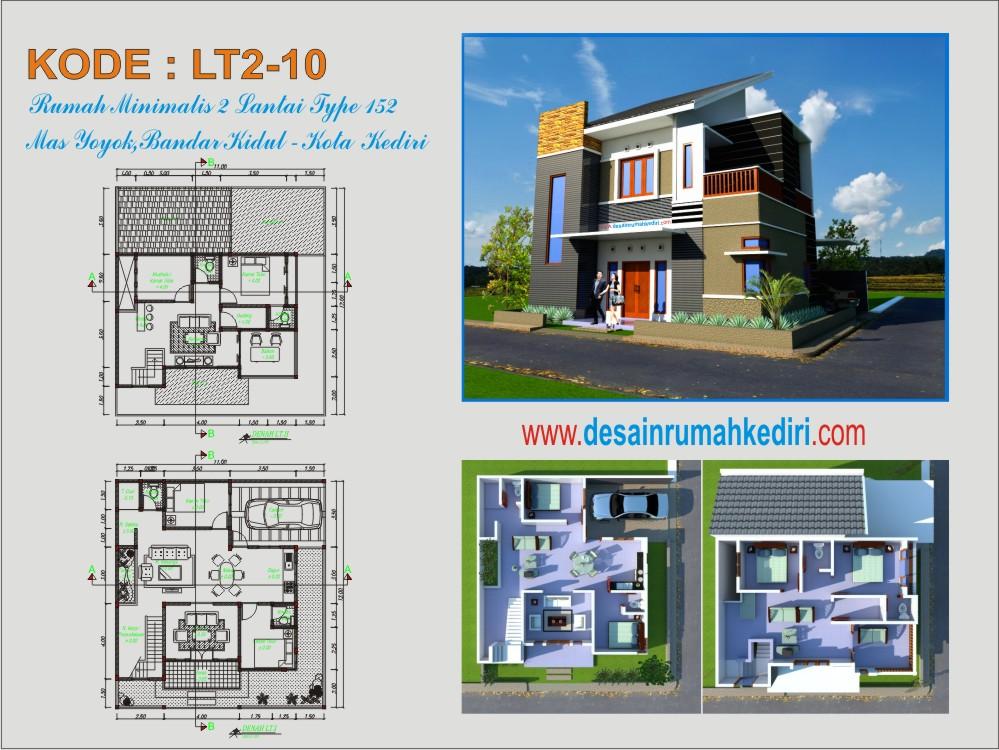 Rumah Minimalis 2 Lantai Di Palembang  lt2 10 rumah minimalis hook 2 lantai bandar kidul kota