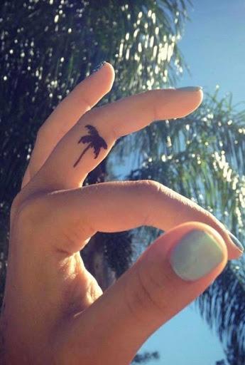 Este pequeno palma
