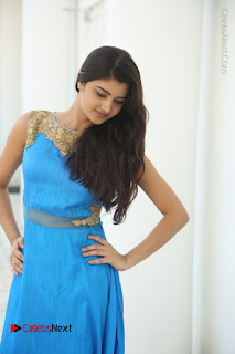 Telugu Actress Akshita (Pallavi Naidu) Latest Stills in Blue Long Dress at Inkenti Nuvve Cheppu Movie Promotions  0045.jpg