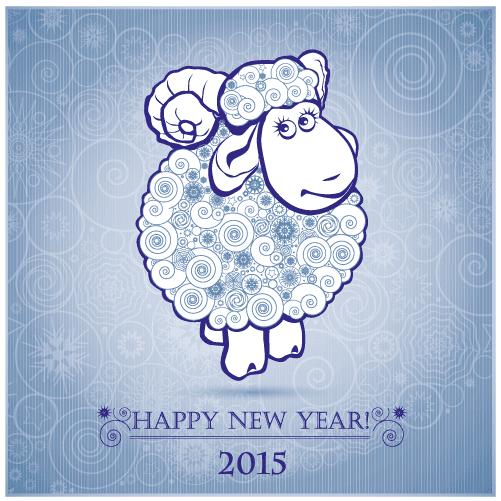 Oveja para calendario y Año Nuevo 2015