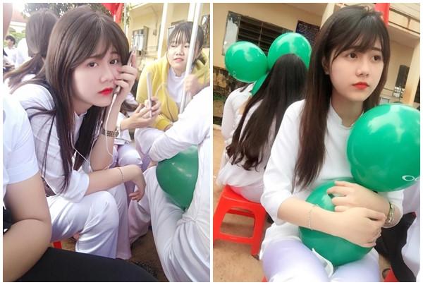 Hot girl 10X Bình Phước được xem là động lực đến trường của bọn con trai