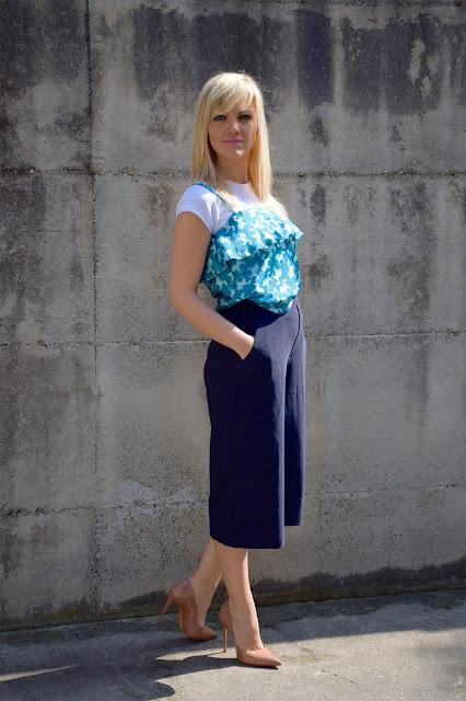 outfit pantaloni culotte come abbinare i pantaloni culotte abbinamenti pantaloni culotte  mariafelicia magno fashion blogger colorblock by felym outfit giugno 2017 outfit estivi