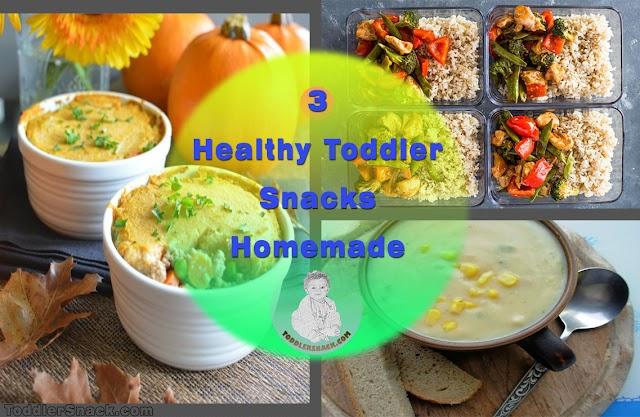 3 Healthy Toddler Snacks Homemade
