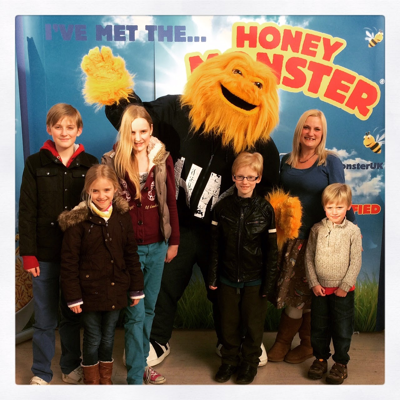 Meeting the Honey Monster at the centre;MK