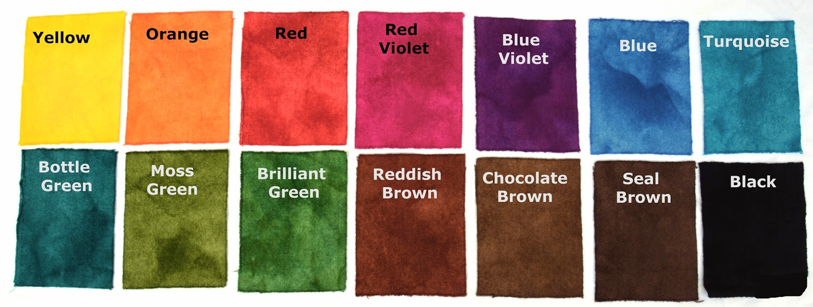 My Friend Starr Asked For A Colour Chart Majic Carpet Dyes And I Thought You Might Like It Too