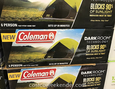 Costco 1177677 - Coleman Fast Pitch Dark Room Dome Tent stays cooler than conventional camping tents