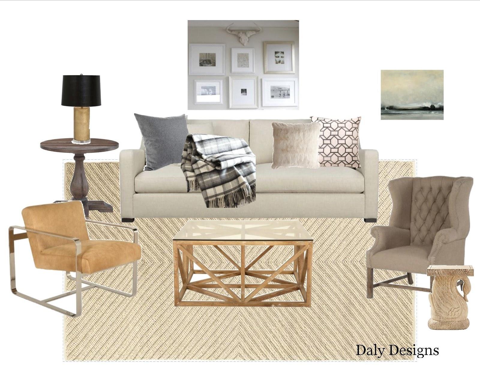 Living Room Design Board Dreamy Nuetrals