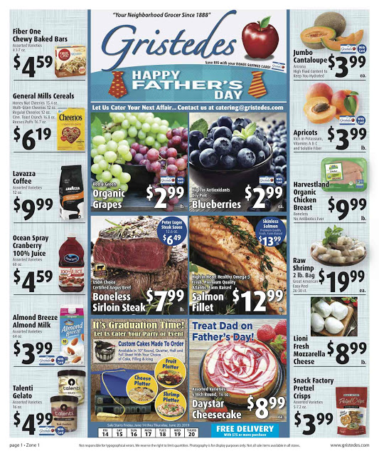 CHECK OUT ROOSEVELT ISLAND GRISTEDES Products, Sales & Specials For June 14 - June 20