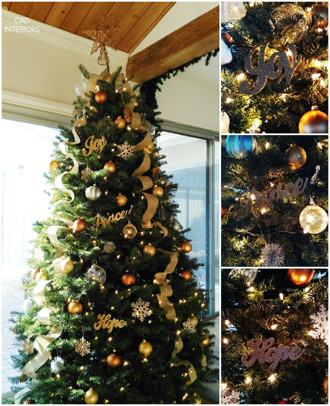 Christmas tree decorations monotone tonal classic holiday decorating