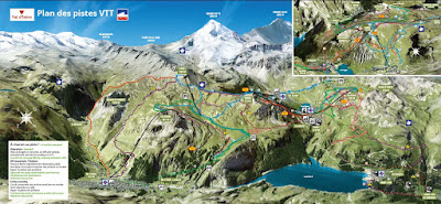 Map of the bike park 2016 Tignes.net