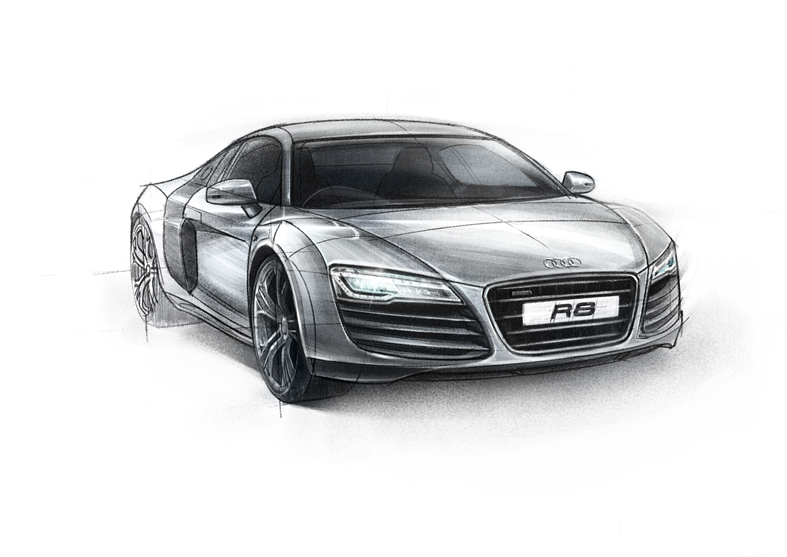 Vaughan Flanagan's Illustration Blog: Audi R8 Concept Sketch.
