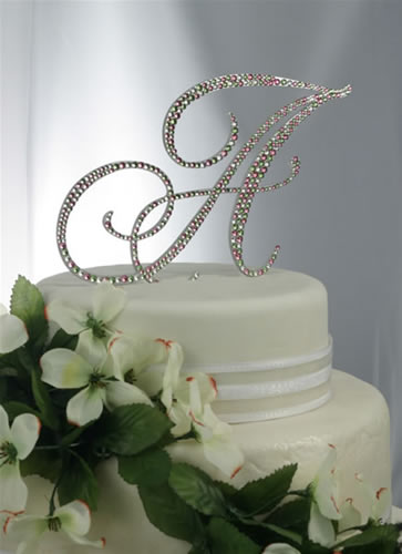 Design Your Own Swarovski Crystal Monogram Wedding Cake Topper