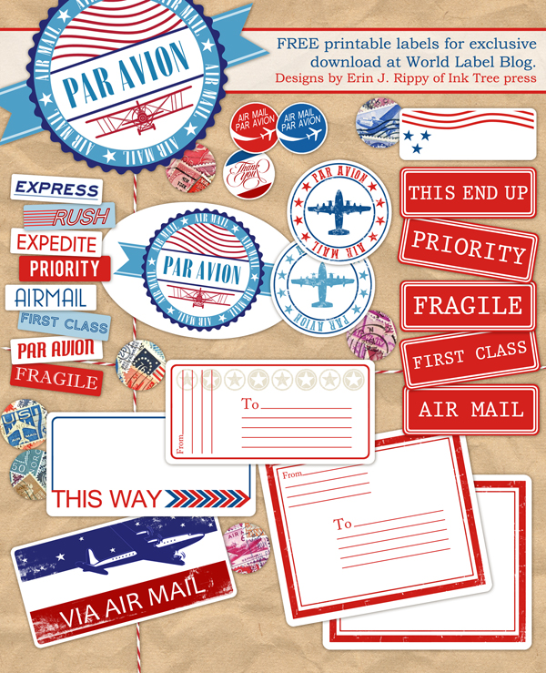 Propnomicon: Printable Air Mail Labels