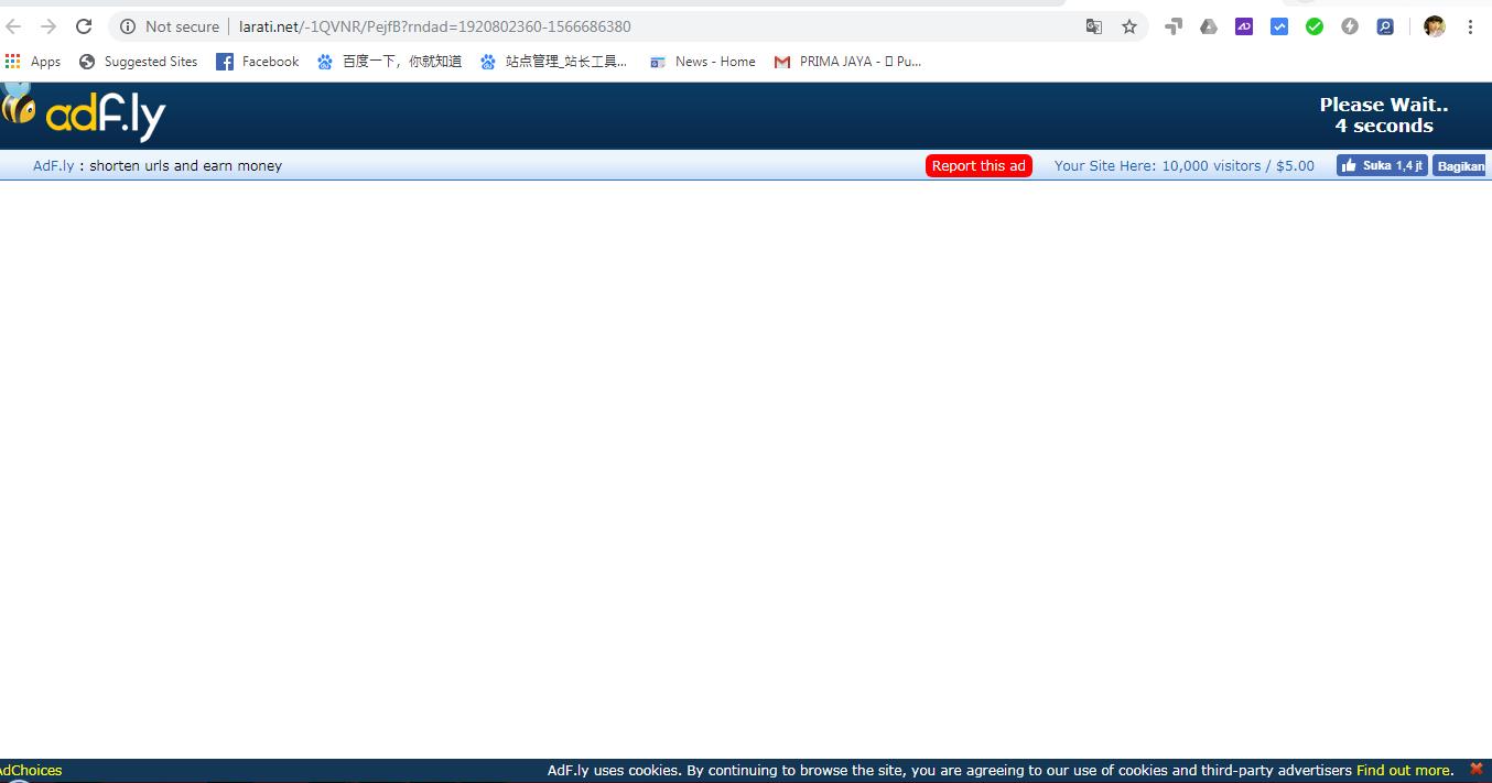 Tutorial Cara Download shorte adf.ly tanpa Allow Notification Ads