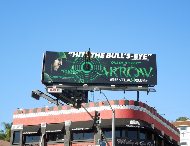 Arrow bulls eye special installation billboard