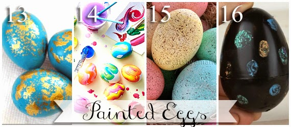 Different ways to paint Easter eggs