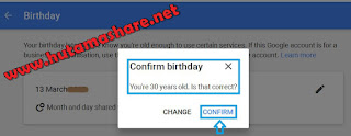 Cara Merubah Umur Tanggal Lahir Pada Akun Google