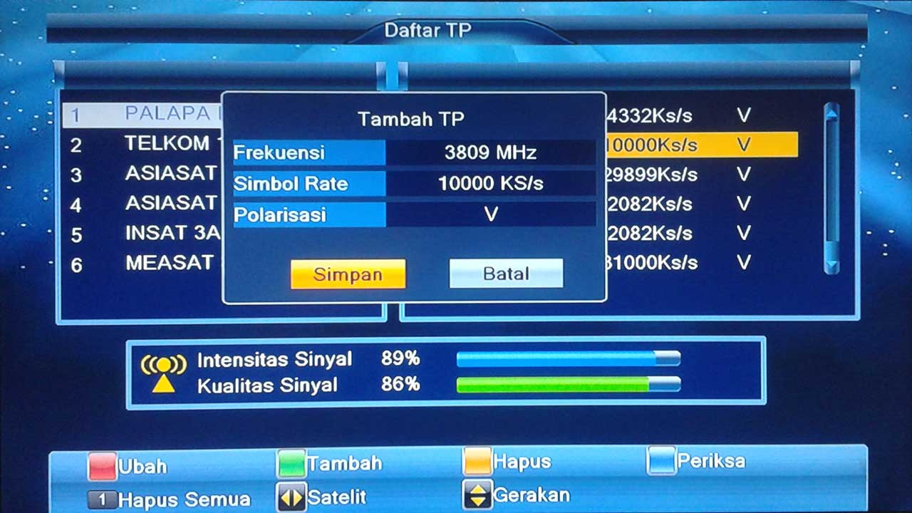Cara Menambah Frekuensi TV di Parabola LGSat Bigbang