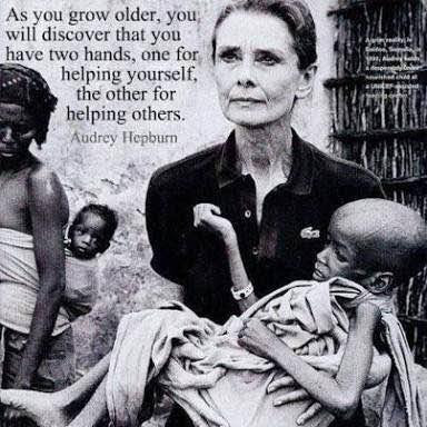 Audrey Hepburn Quote About Helping Others