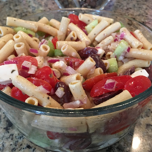 Pasta Salad with Olives and Veggies