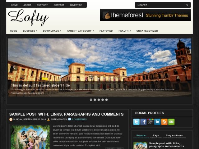 Lofty Blogger Template