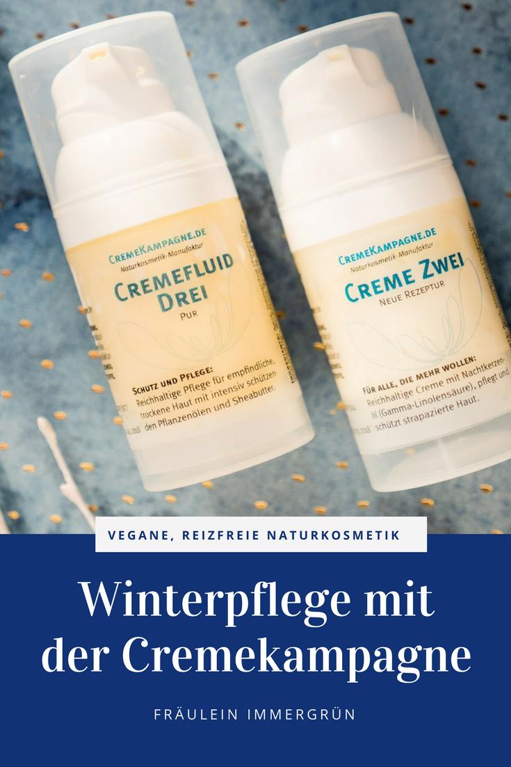 Cremekampagne Cremekampagne Cfemfluid Drei und Creme Eins – reizarme, vegane Gesichtspflege aus der Naturkosmetik für sensible Haut