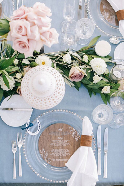 mesa boda azul serenity