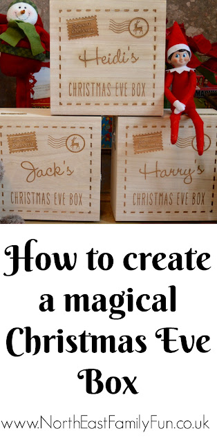 How to Create a Personalised Wooden Christmas Eve Box including ideas for what to put inside.