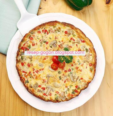 Cara membuat Omelet Jamur Paprika